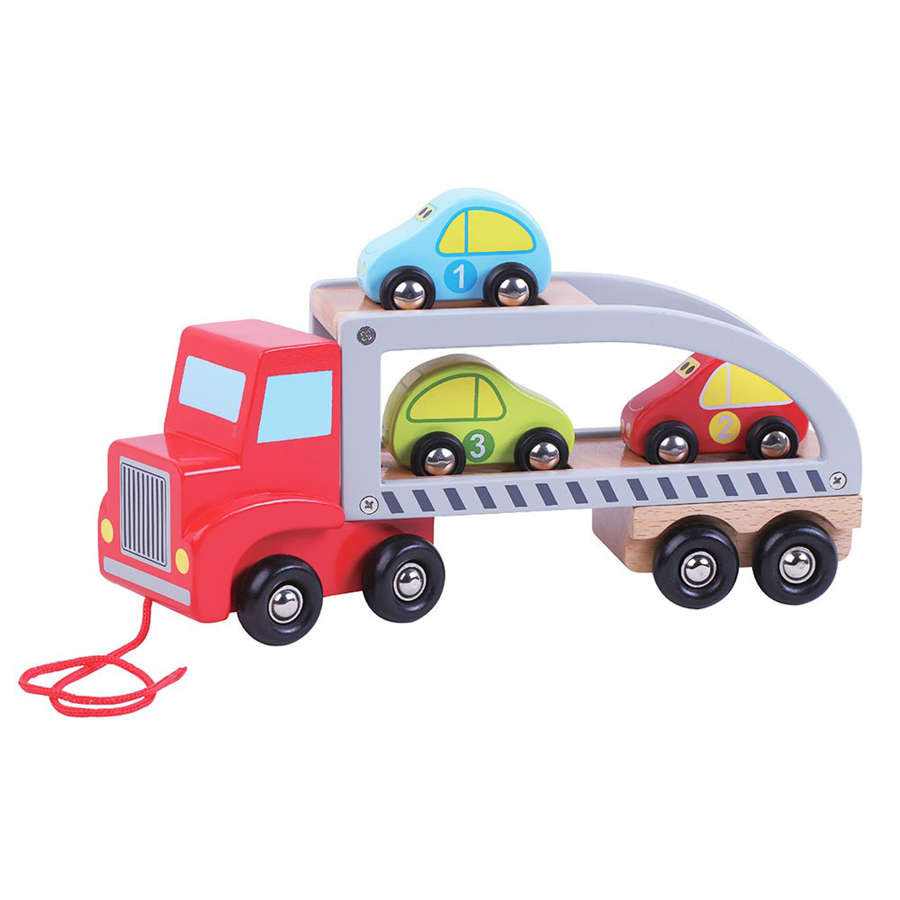 Wooden car carrier lorry