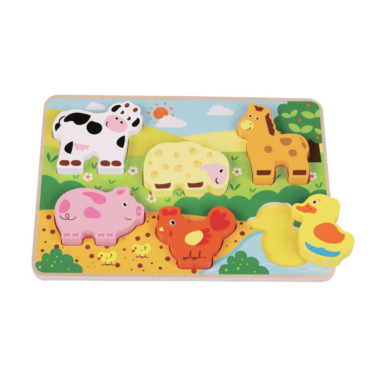 Wooden chunky Farm puzzle