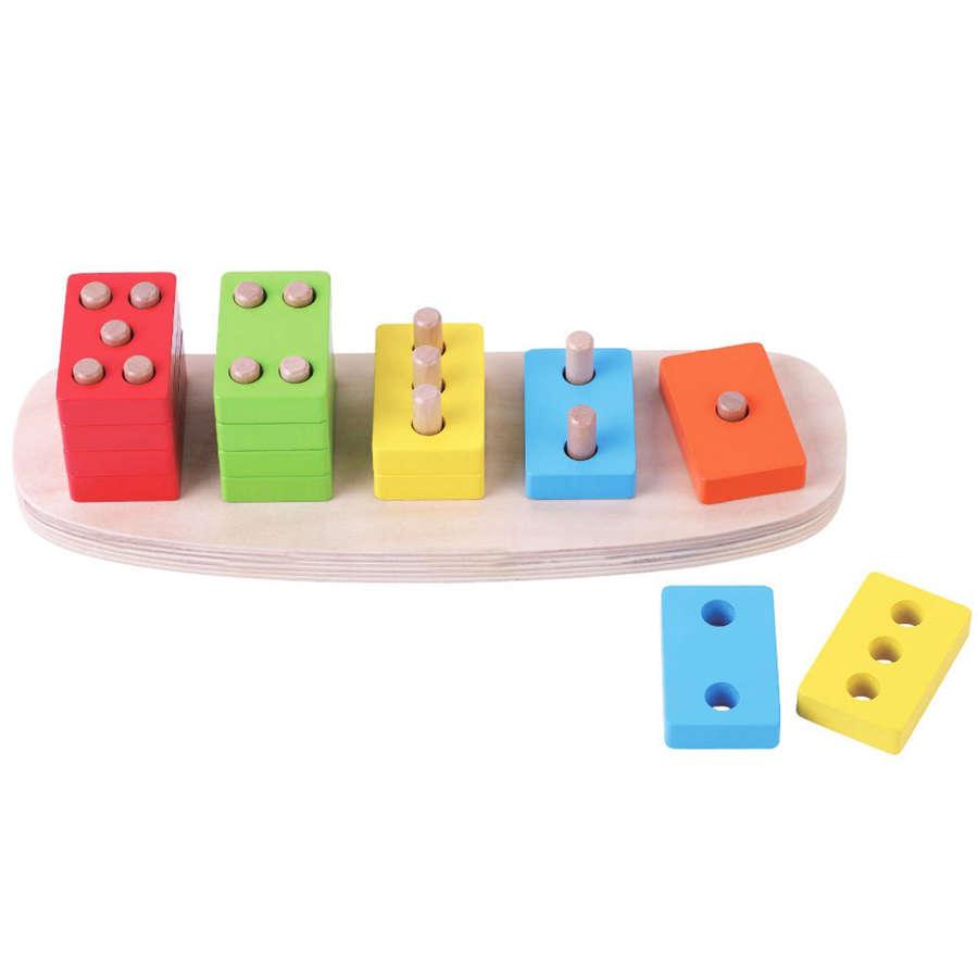 Wooden 16 piece Domino puzzle