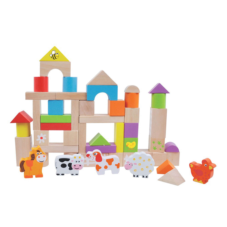 Wooden 50 piece Farm building blocks