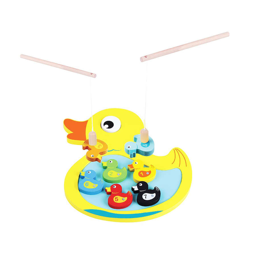 Wooden magnetic Duck fishing game