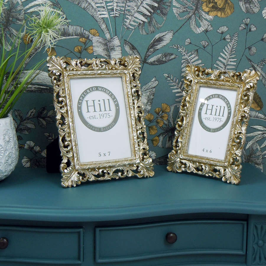 Elegant Antique champagne photo frames