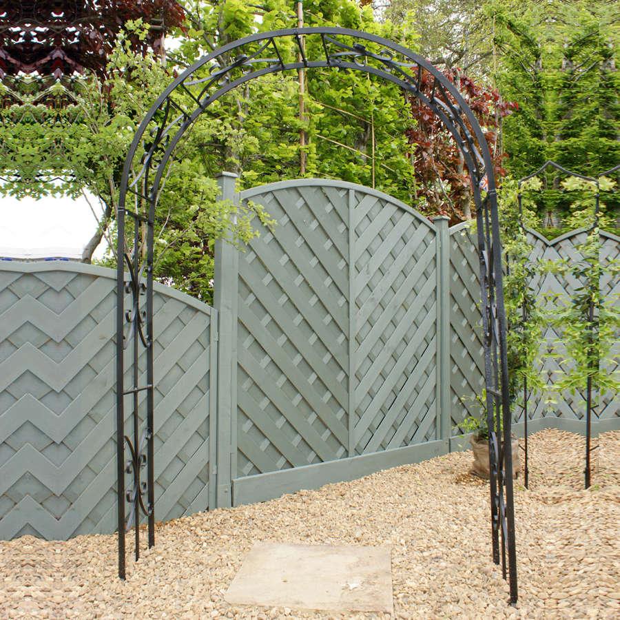 Poppyforge Buckingham garden Arch manufactured in the UK