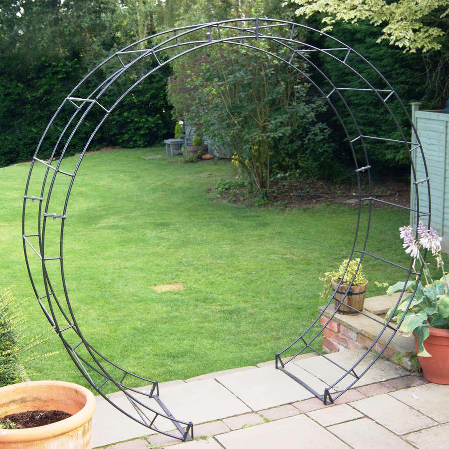 Poppyforge round garden Arch manufactured in the UK