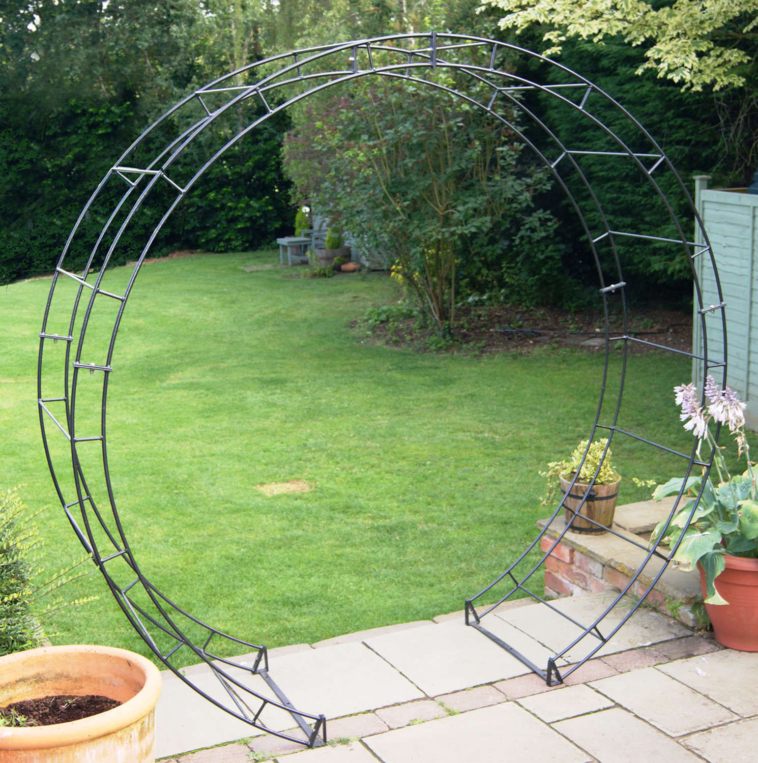 Poppyforge round garden Arch manufactured in the UK