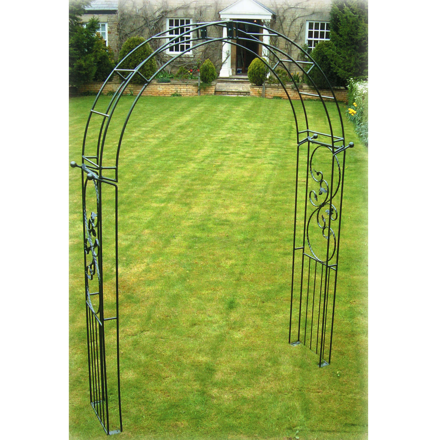 Poppyforge Imperial traditional garden Arch manufactured in the UK