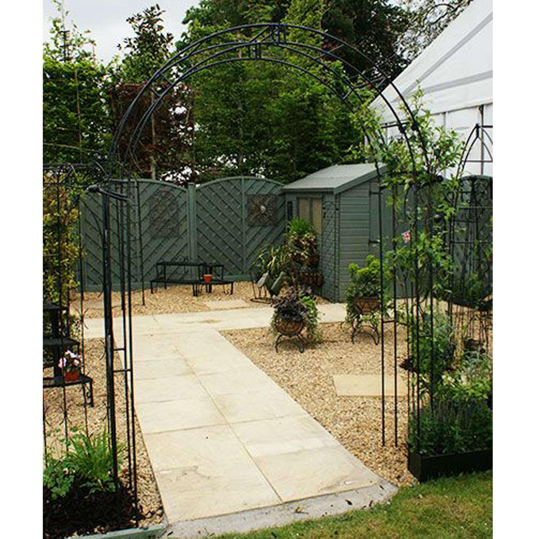 Poppyforge Flower traditional garden Arch manufactured in the UK