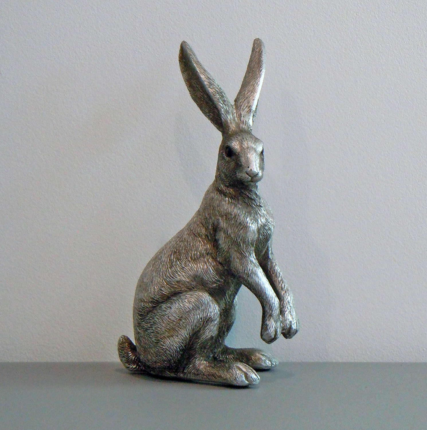 Silver ornamental sitting Hare