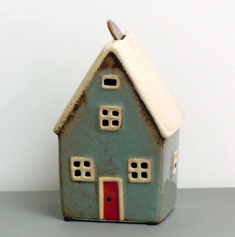 Kiln fired pottery House money box