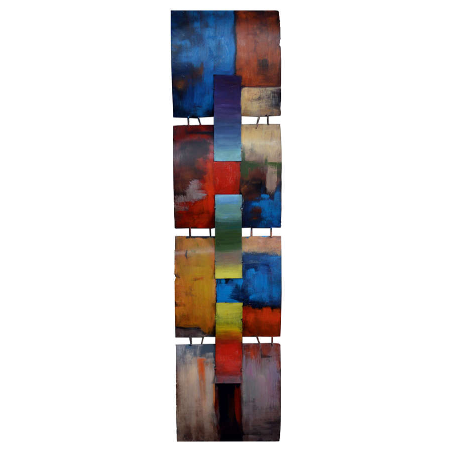 A Mondrian Tribute 3D metal abstract wall art