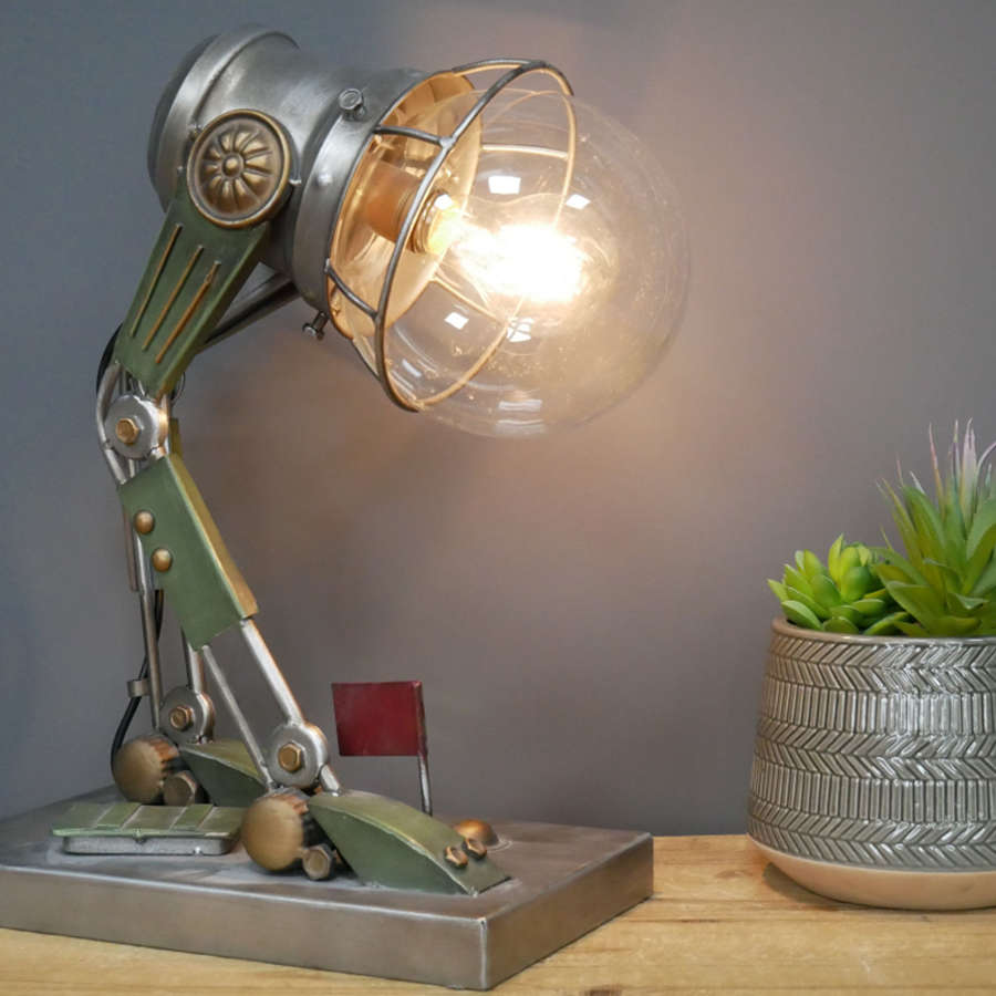 Metal Robot table lamp