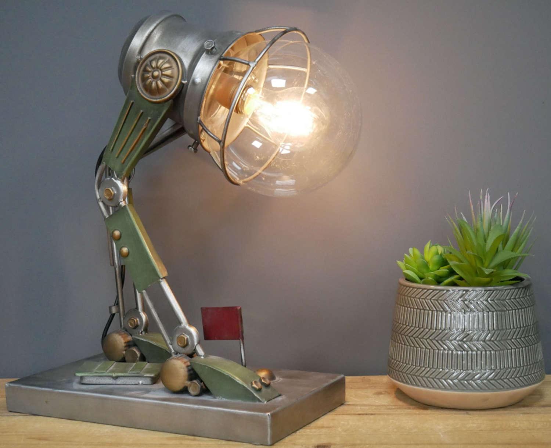 Metal Robot table lamp