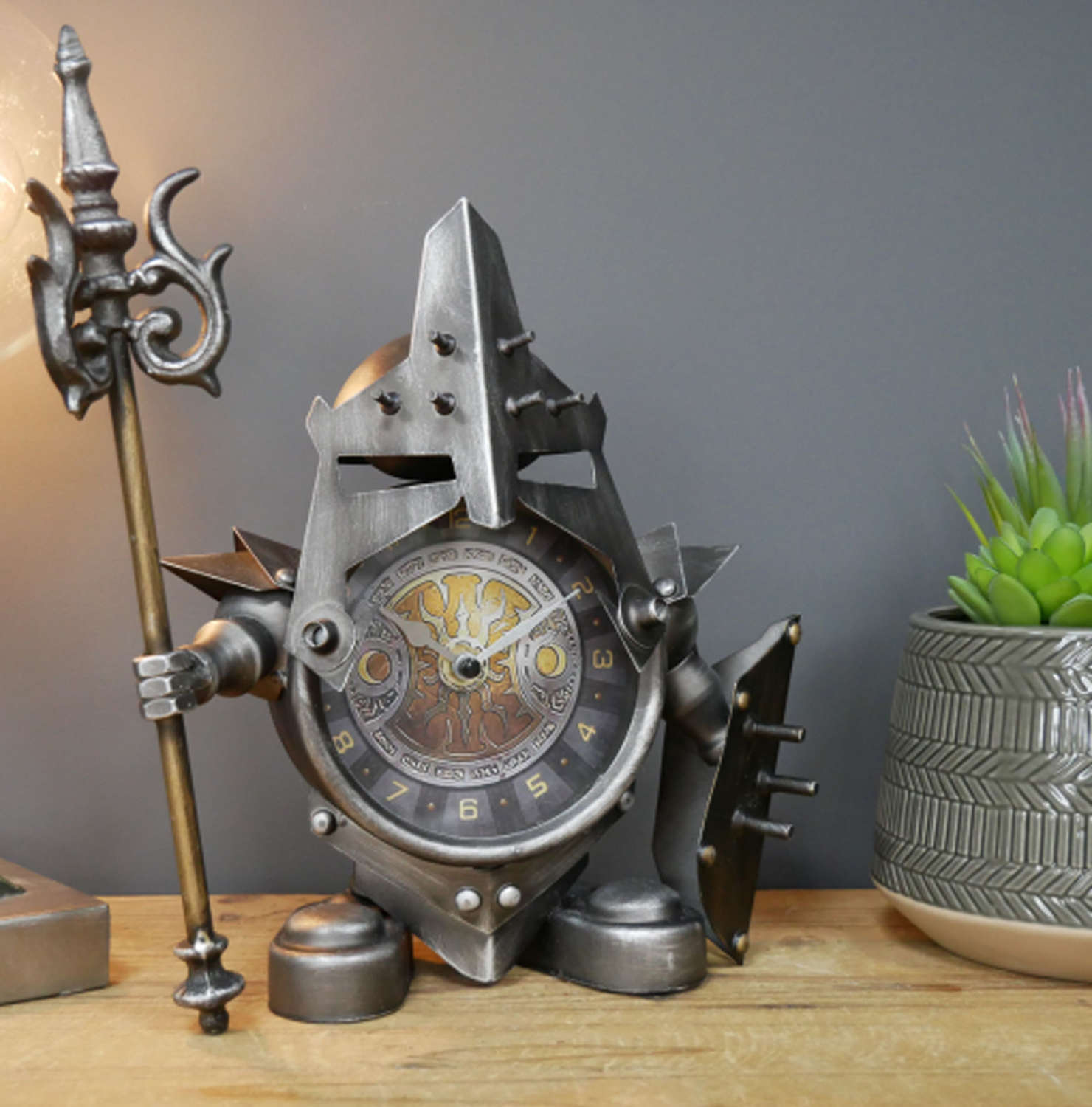 Metal Warrior clock