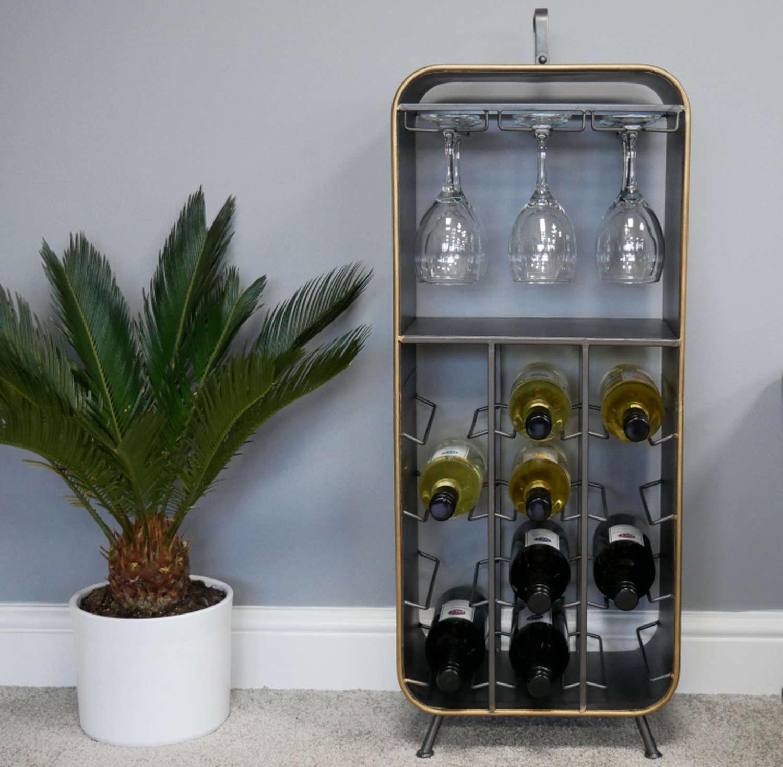 Metal wine cabinet
