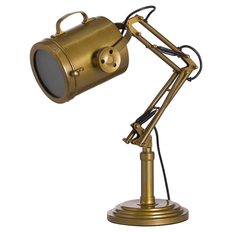 Brass industrial adjustable spot light lamp