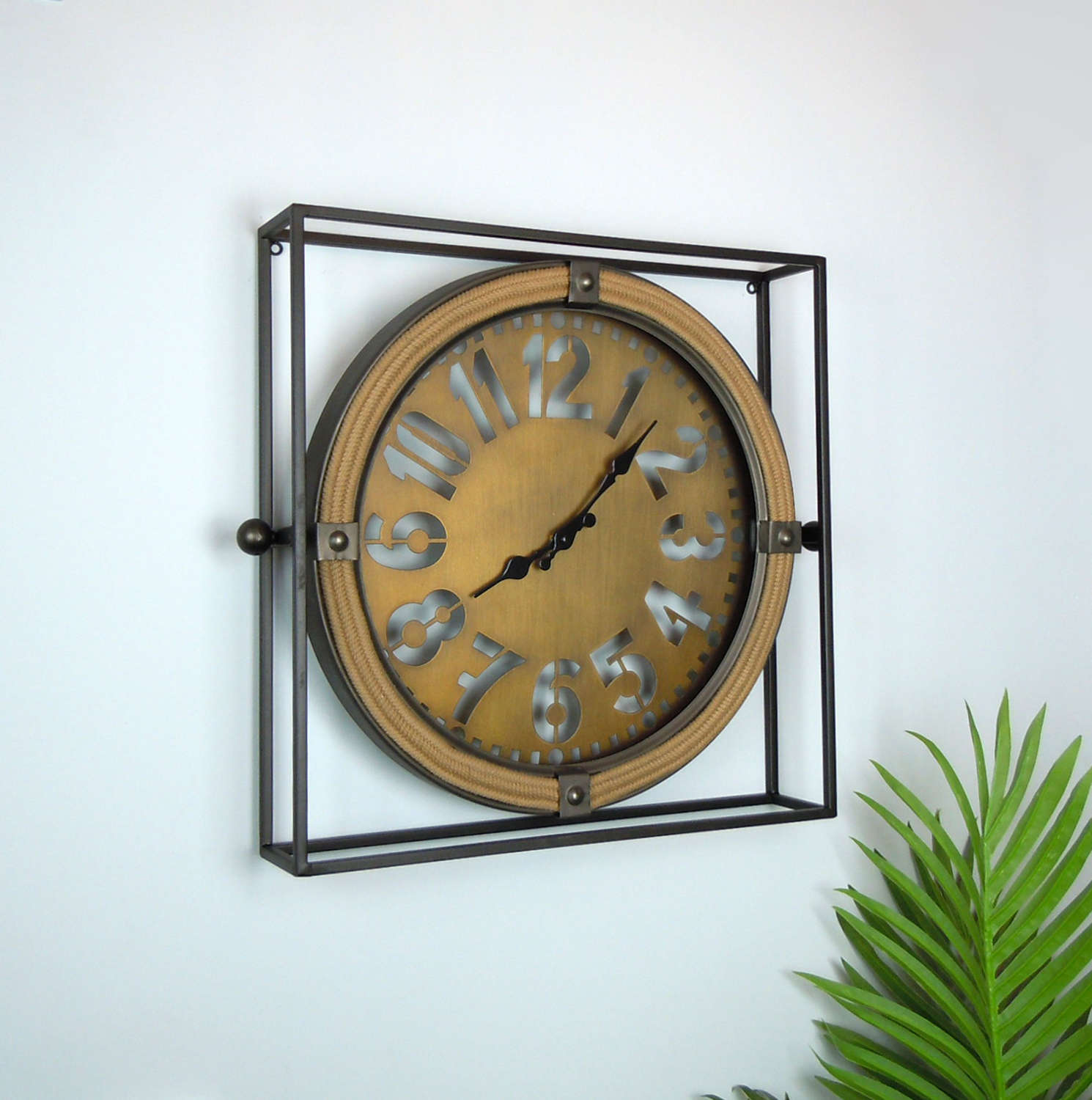 Urban framed metal clock