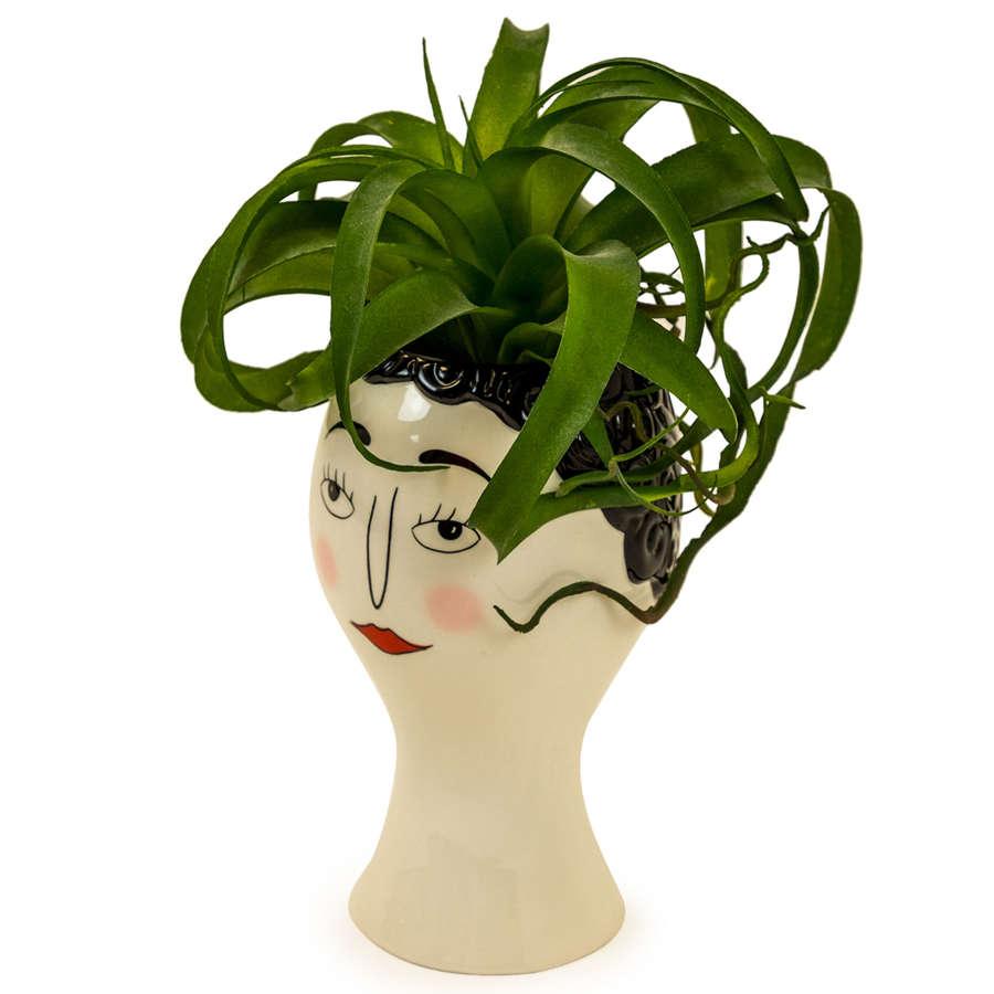 Doodle Woman's Face vase planter