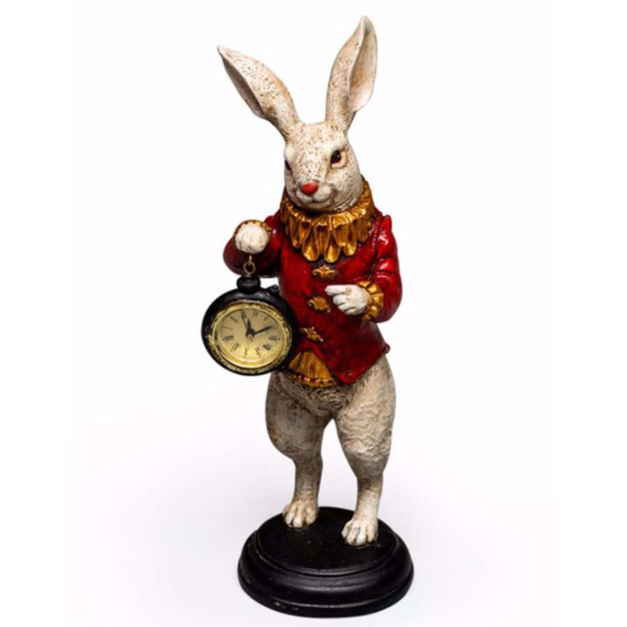 The White Rabbit Standing Clock Figure