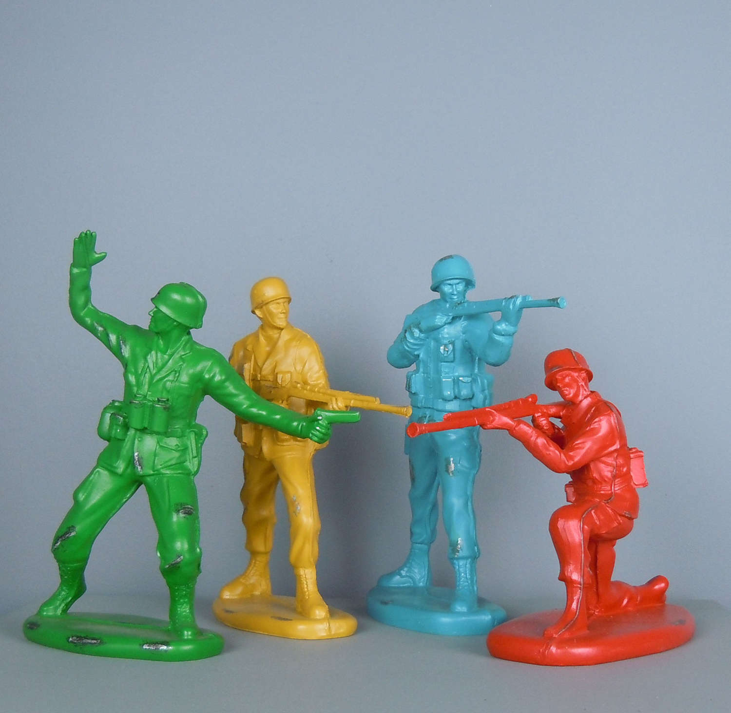 Classic coloured toy Soldier Figures