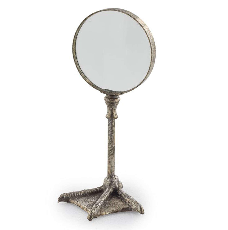 Silver Bird leg table magnifying glass