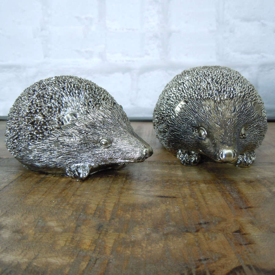Silver Hedgehog ornament