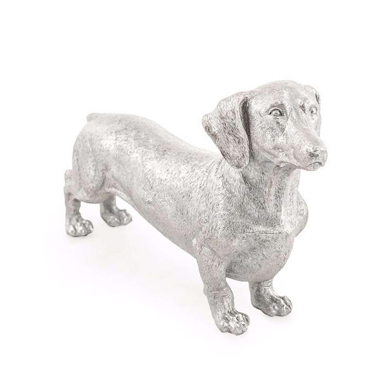 Silver Dachshund ornament