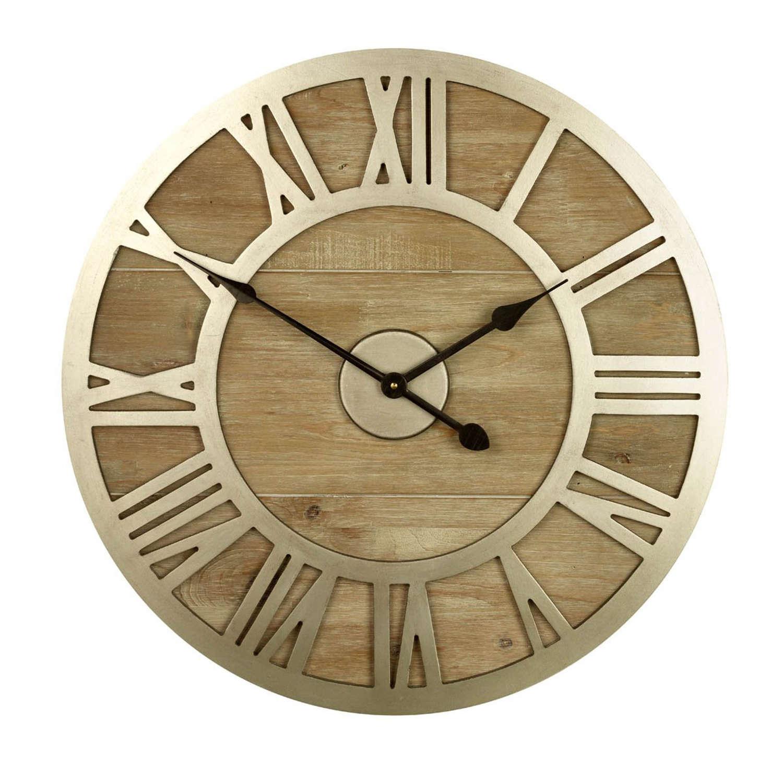 Albus wood and metal clock