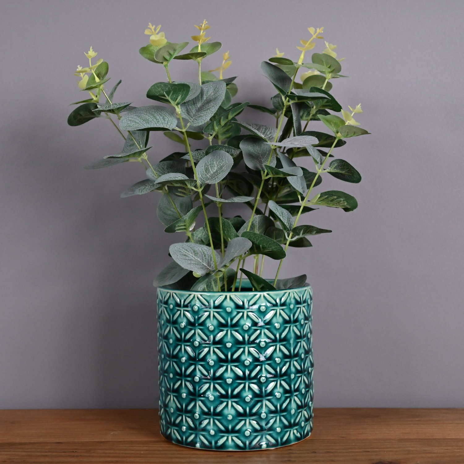 Seville Collection Thea Teal plant pot