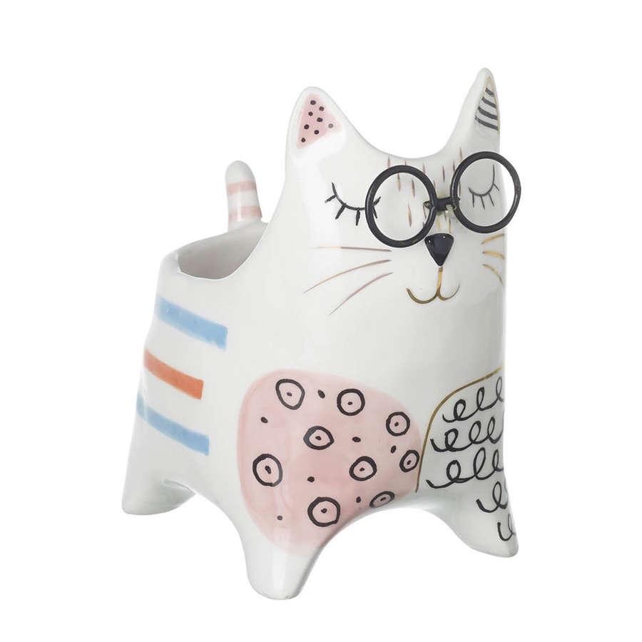 Clever Cat ceramic cat pot