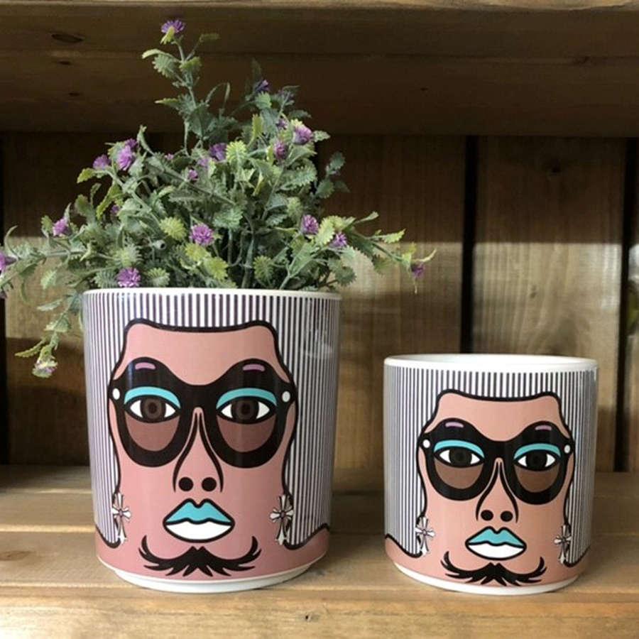 Ceramic Face pot