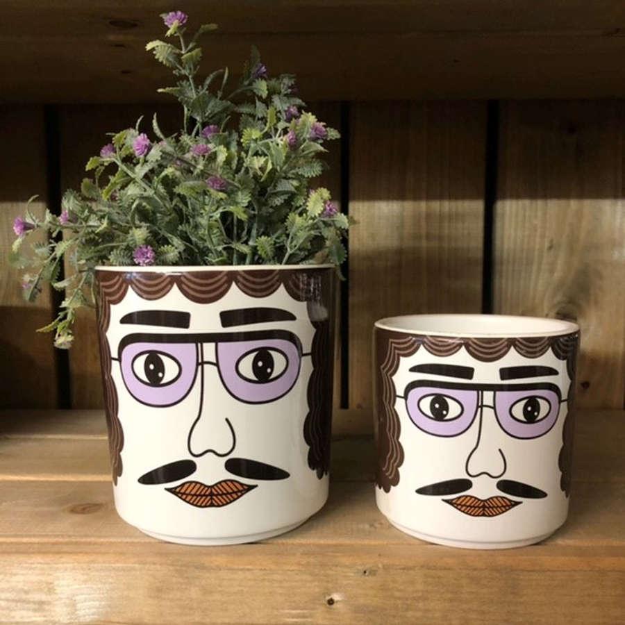 Ceramic Face pots
