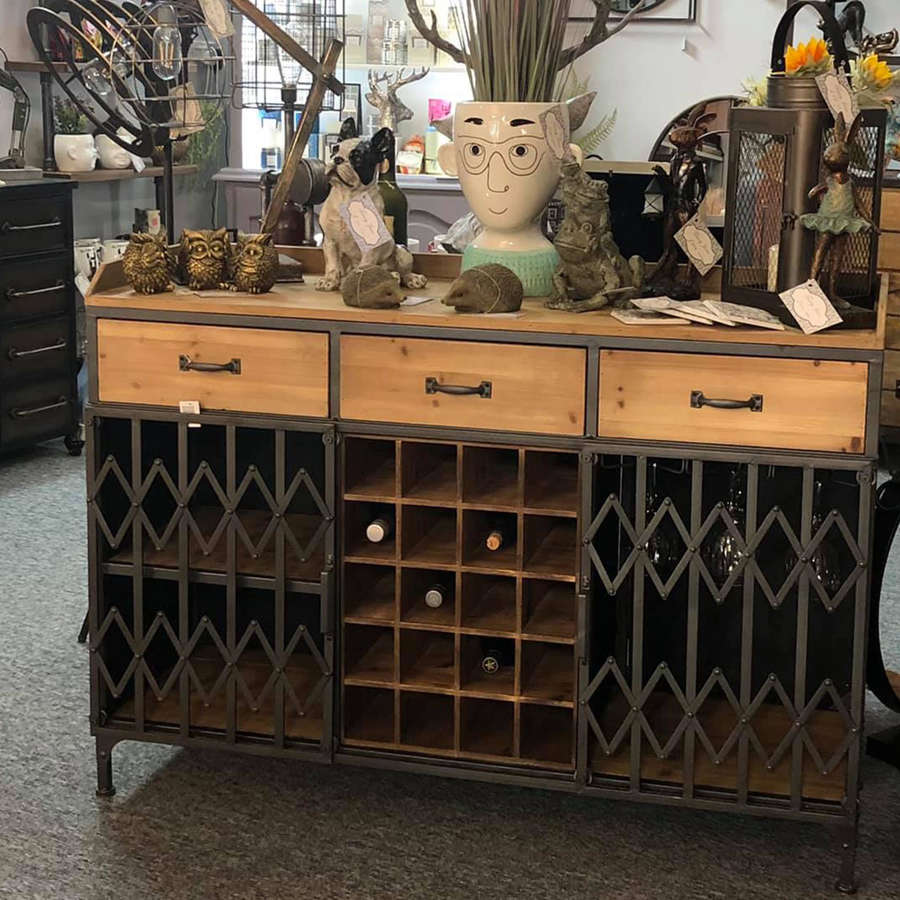 Industrial style drinks cabinet