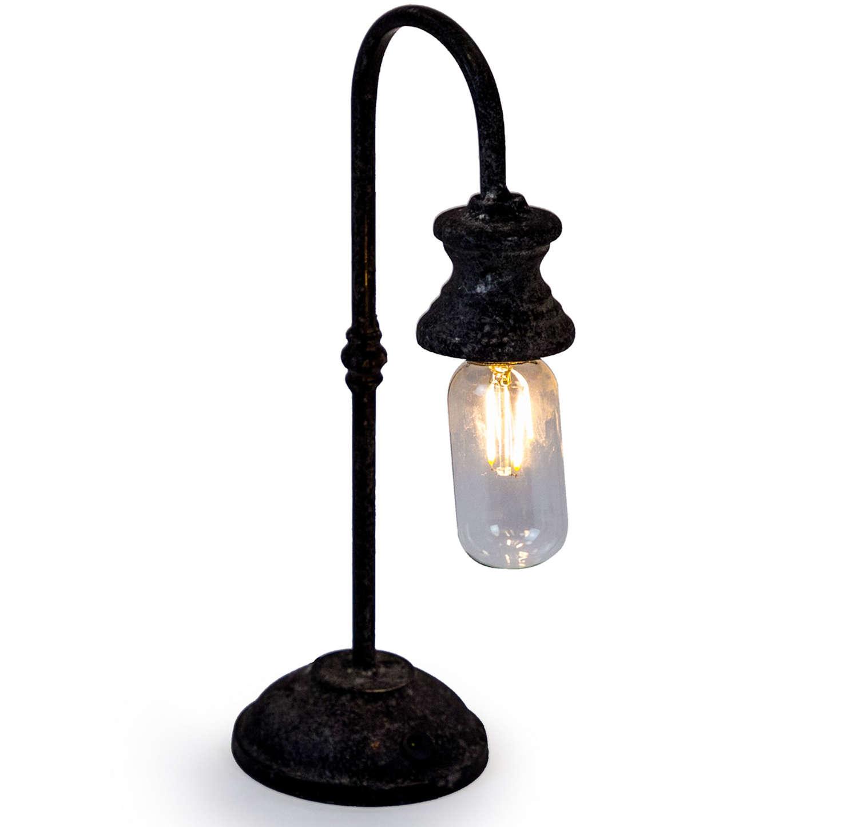 Antique style iron LED rechargable USB lamp