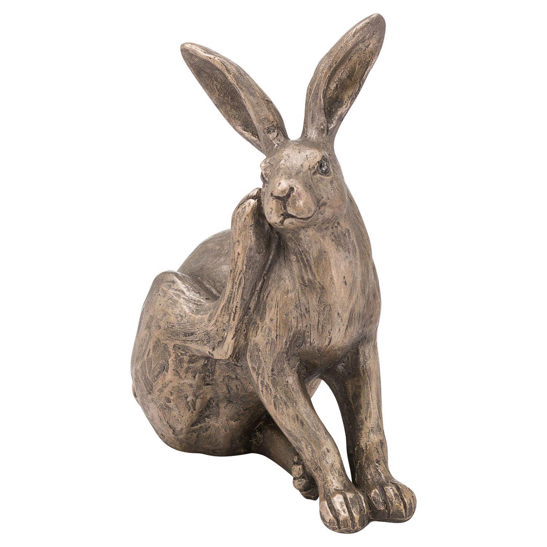 Bronze finish sitting Hare
