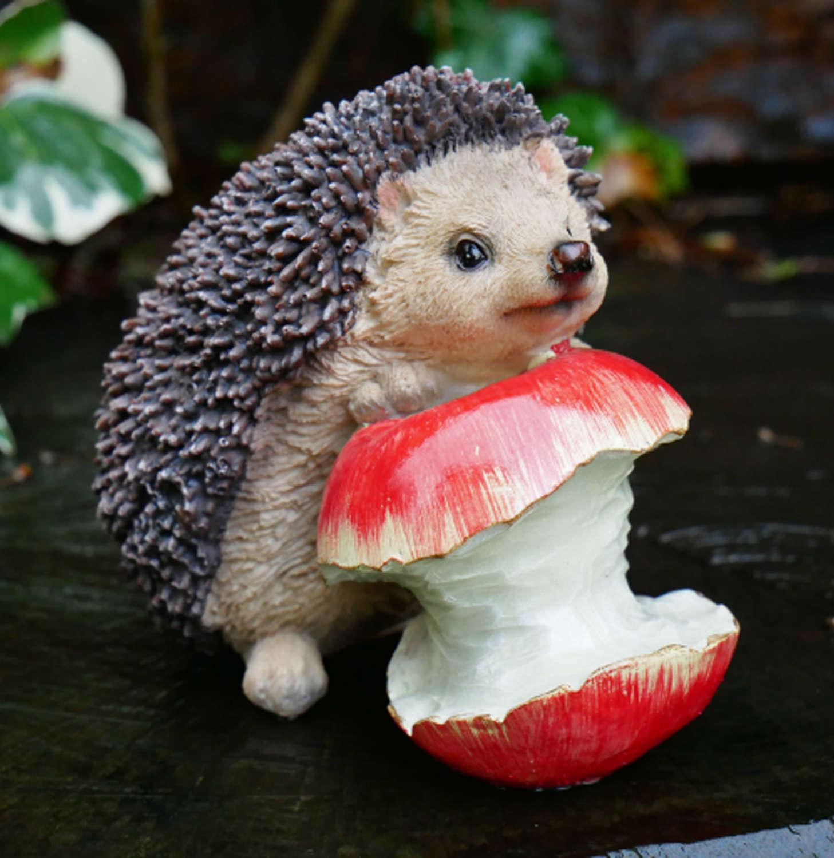 Hedgehog with apple garden ornament