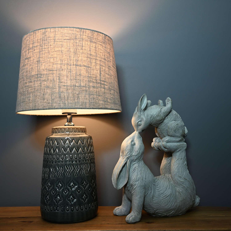 Rabbits kissing ornament