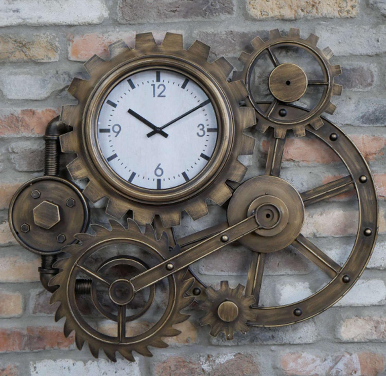 Metal cog wall clock