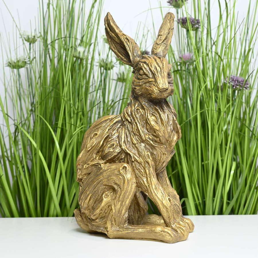 Antique bronze effect Hare