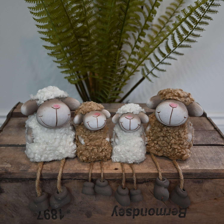 Fluffy Sheep shelf hangers with dangly legs