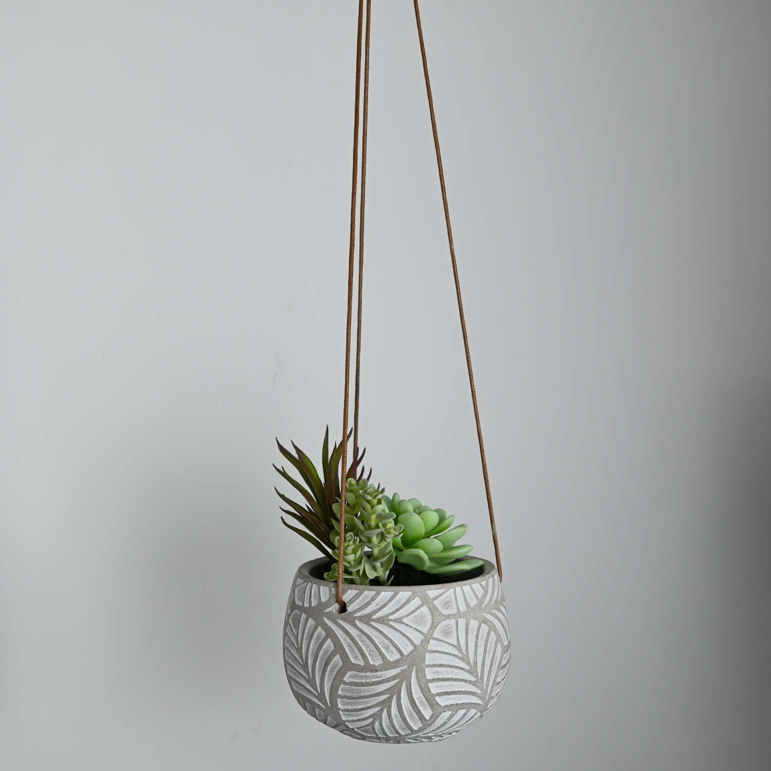 Cement hanging planter