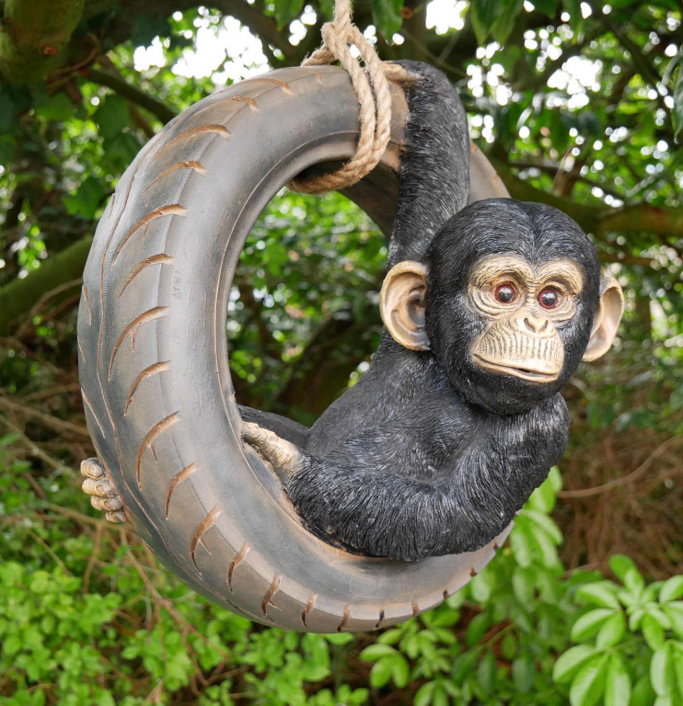 Monkey on tyre swing