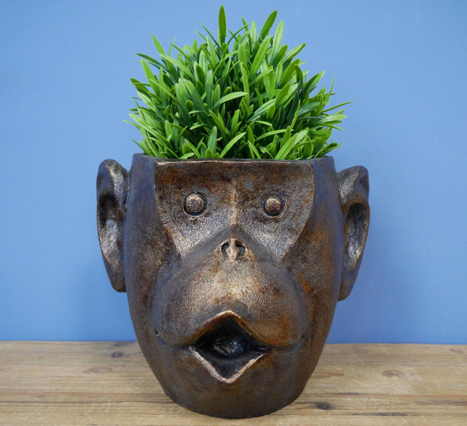 Monkey head planter pot