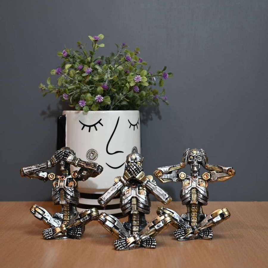 Hear no evil, see no evil, speak no evil Steampunk Skeletons