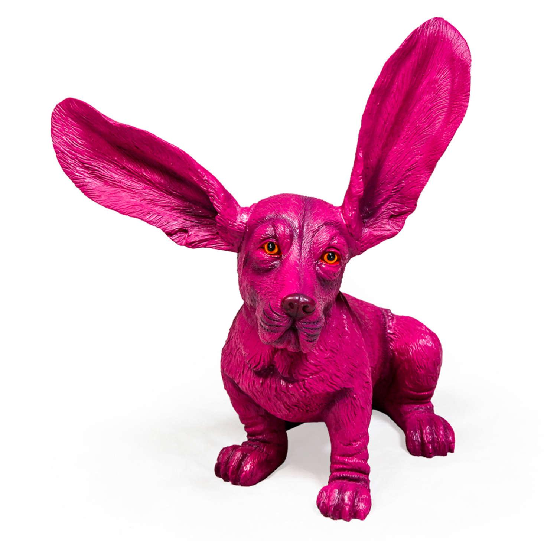 Pink Basset Hound ornament