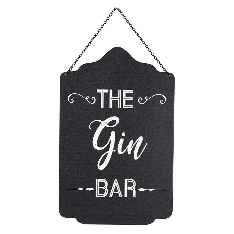 The Gin Bar iron hanging sign