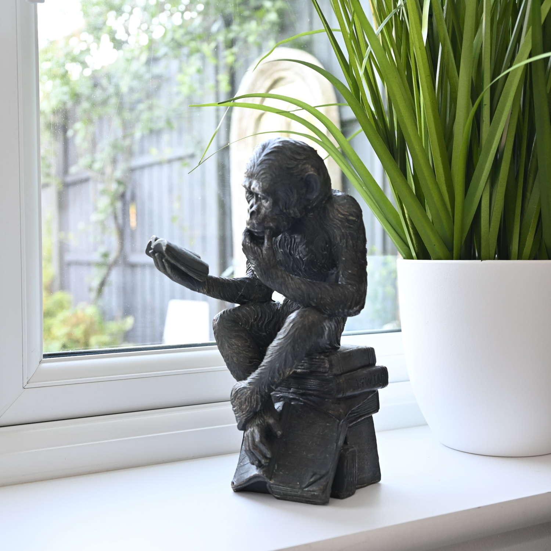Reading Monkey ornament