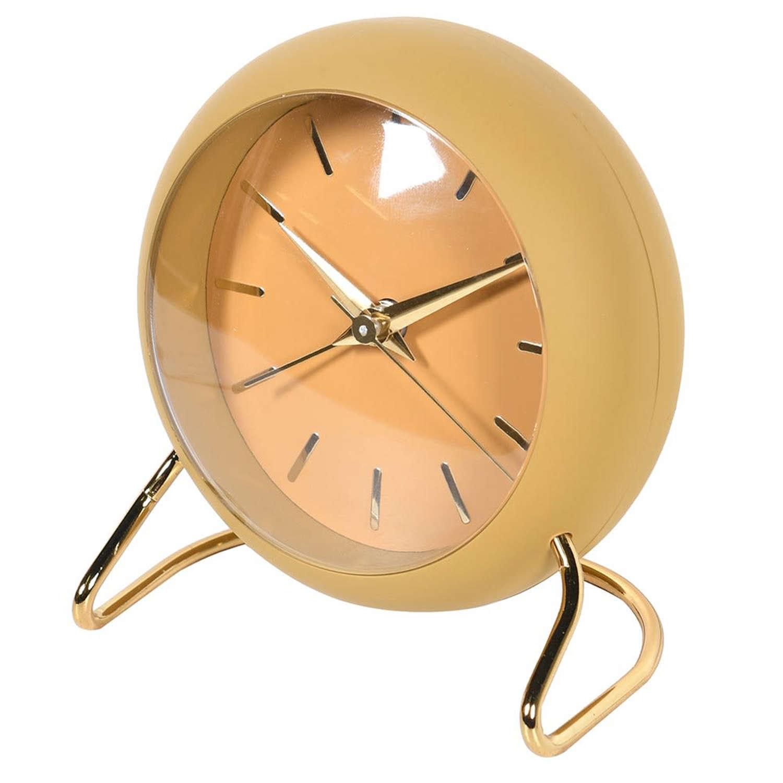 Mustard coloured mantle clock