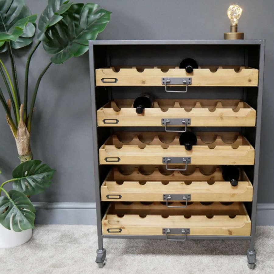 Wine cabinet on wheels