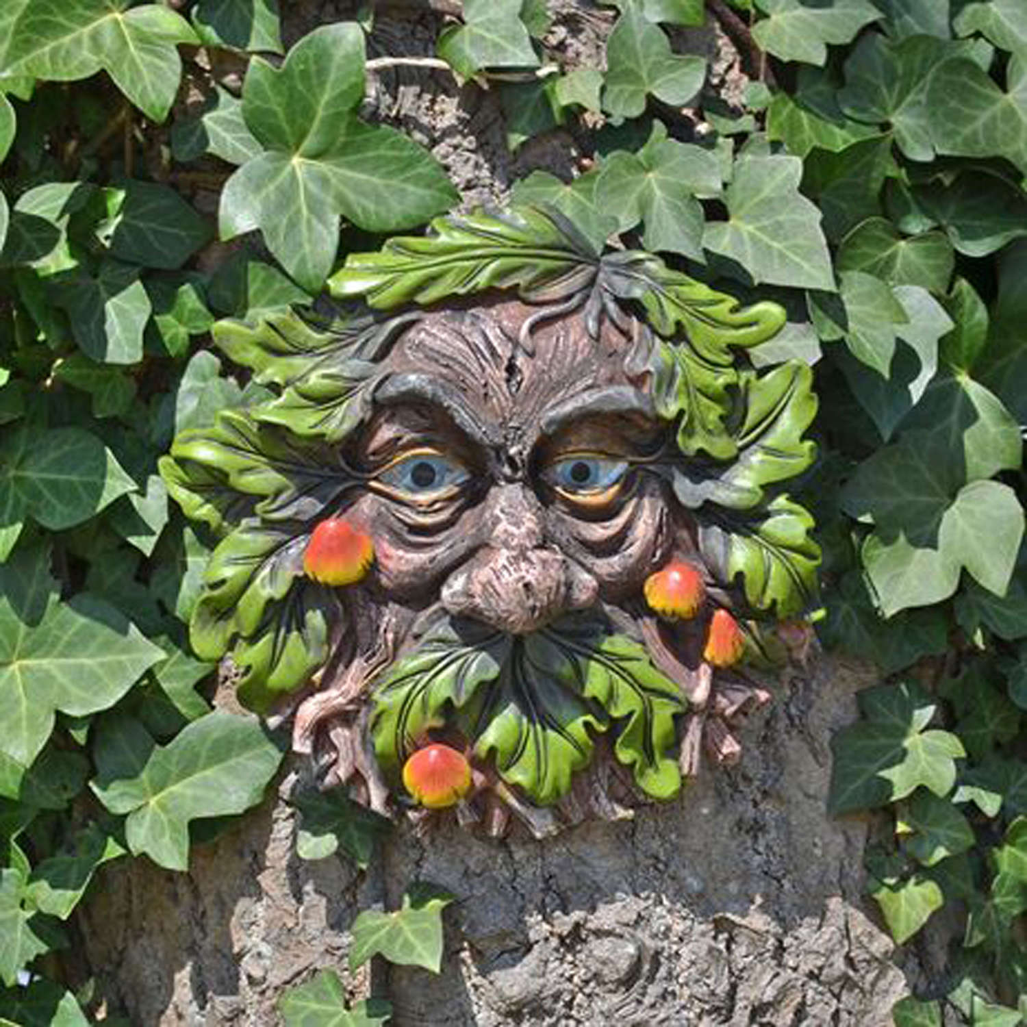 Tree face wall plaque
