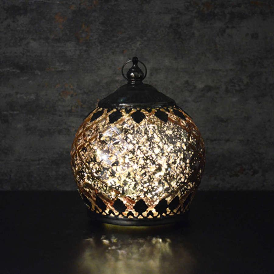 Champagne LED pattern lantern